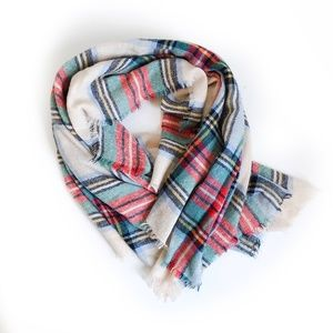 Aerie Plaid Blanket Scarf